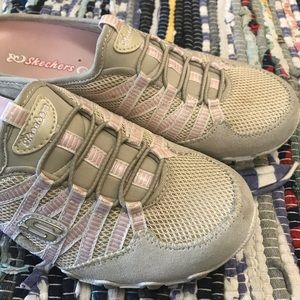 Skechers Womens Mule Shoes Leather Sneakers 7.5
